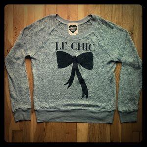 "Modern Lux ""Le Chic"" grey sweater, Parisian"
